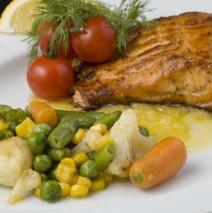 «Тенео» — лосось-гриль / Grilled salmon
